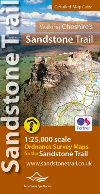 Sandstone Trail map book - large-scale, 1:25,000 Ordnance Survey mapping for the whole of Cheshire's Sandstone Trail in book format