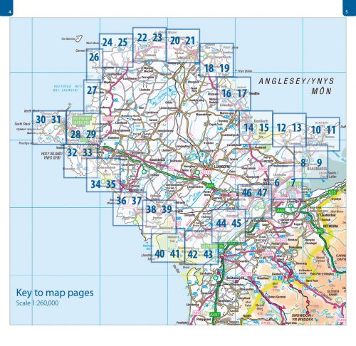 Anglesey Coast Path map book, atlas - Wales Coast Path, 1:25,000 mapping