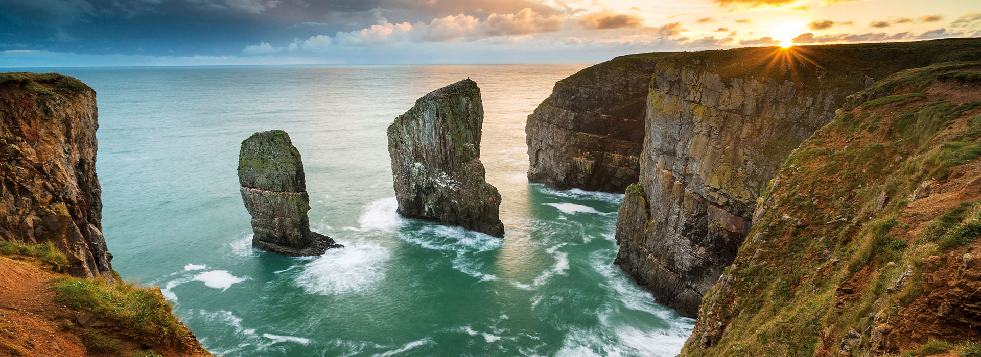 Elegug Stacks on the Wales Coast Path in Pembrokeshire