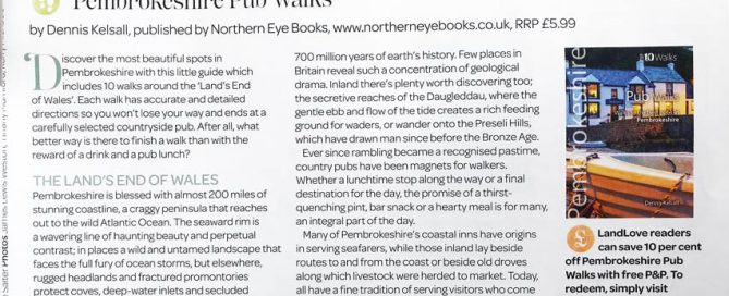 Review of 'Pub Walks in Pembrokeshire' book