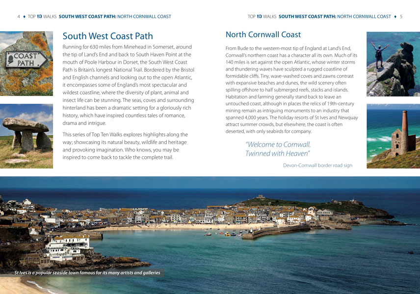 South West Coast Path, North Cornwall - circular walks