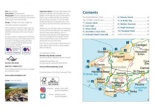 Pembrokeshire: Walks to coastal viewpoints - location map