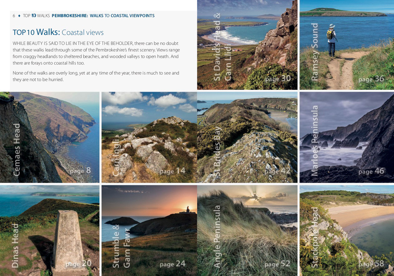 Pembrokeshire: Walks to coastal viewpoints - photo contents