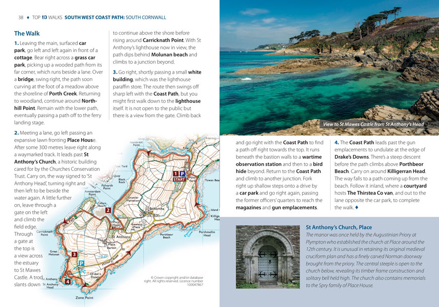 South West Coast Path, South Cornwall - circular walks