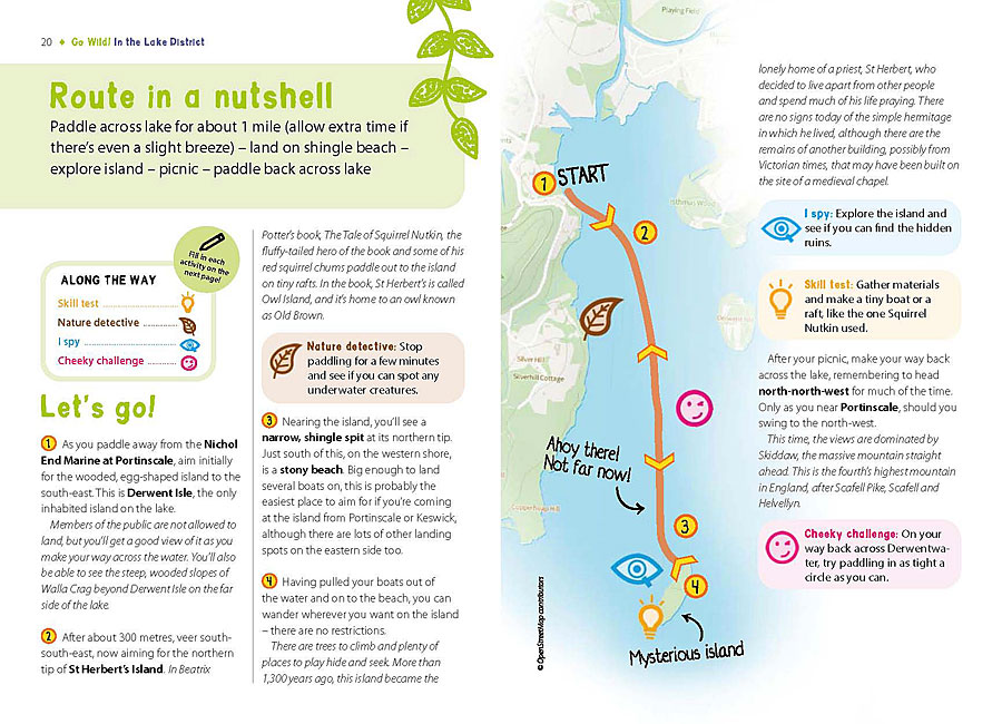Go Wild! family adventures in the Lake District - route directions