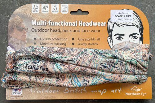 Scafell 1:25,000 OS map neck gaiter, neck warmer, snood