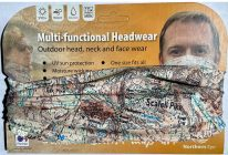 Northern Eye neck tube/scarf/snood - Lake District Scafell Pike, OS mapping. National Three Peaks Challenge