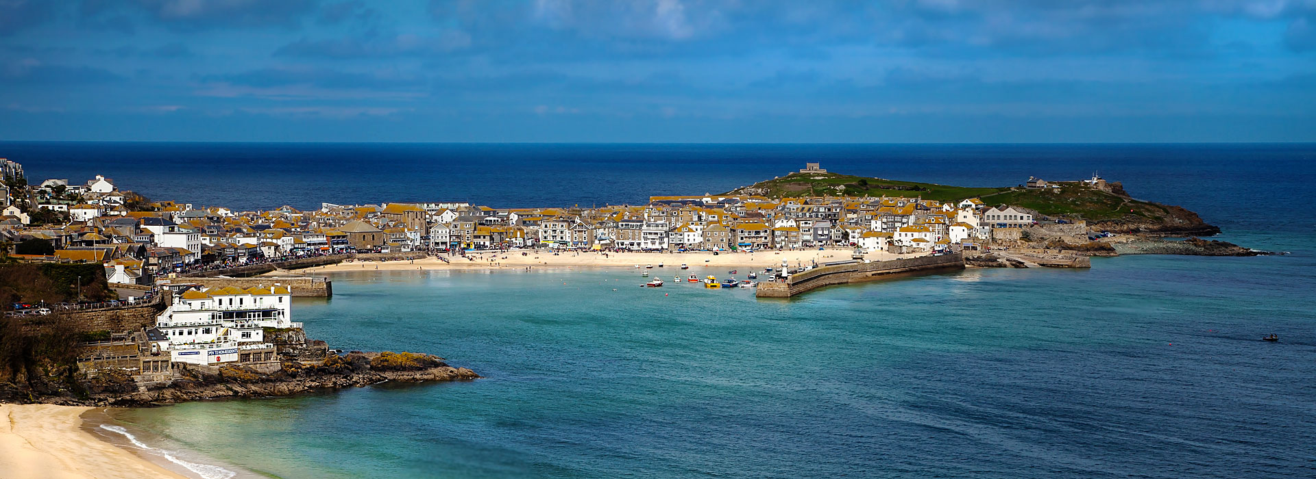 St Ives on the South West Coast Path in Cornwall